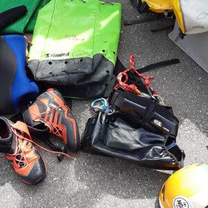 Matériel de canyoning Noa Guides Doubs et Jura