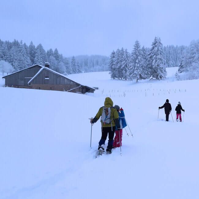Noa Guides randonnée raquettes Neige montagne du Jura, Métabief Les Rousses