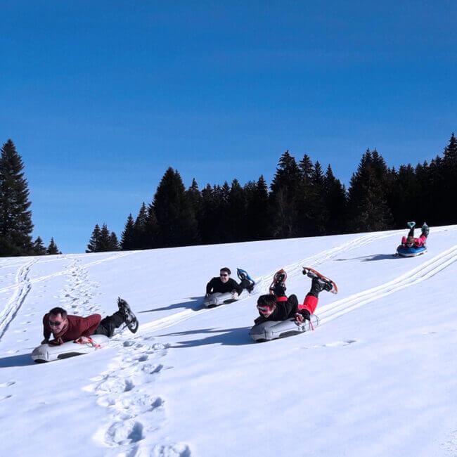 Noa Guides luge Neige Métabief Montagne du Jura